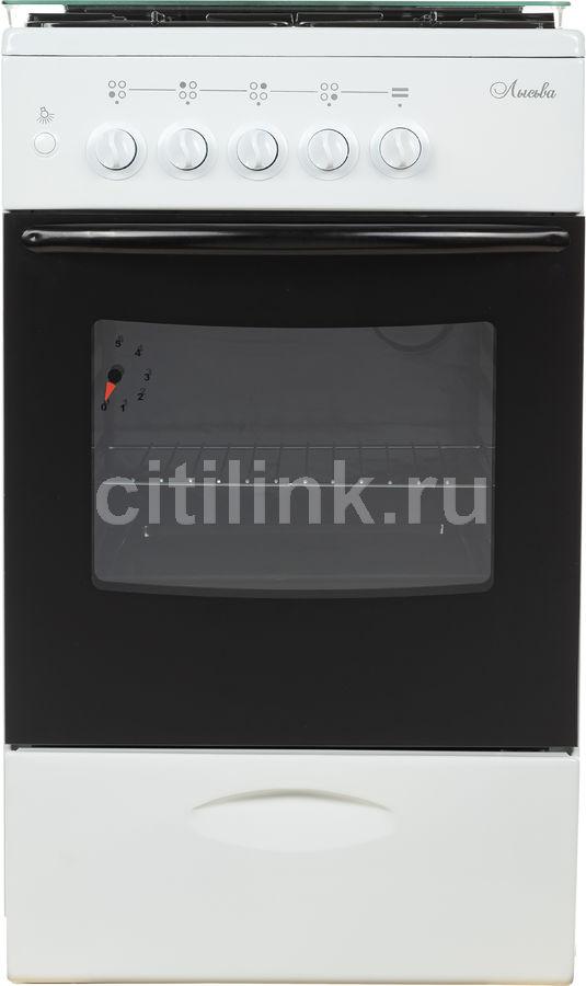 Газовая плита ЛЫСЬВА ГП 400 МС-2у,  газовая духовка,  белый