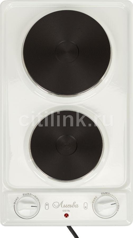 Электрическая плита ЛЫСЬВА ЭПБ 22,  эмаль,  белый