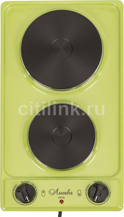 Плита Электрическая Лысьва ЭПБ 22 зеленый эмаль (настольная)