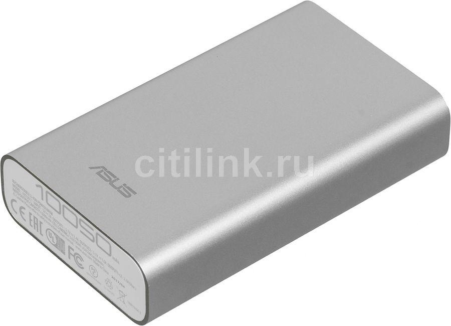Внешний аккумулятор (Power Bank) ASUS ZenPower ABTU005,  10050мAч,  серебристый [90ac00p0-bbt077/027]