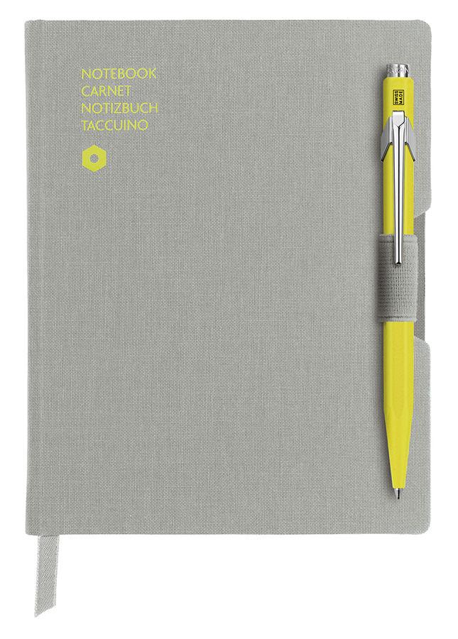 Записная книжка Carandache Office (8491.451) серый A6 192стр. в линейку в компл.:ручка шариковая 849