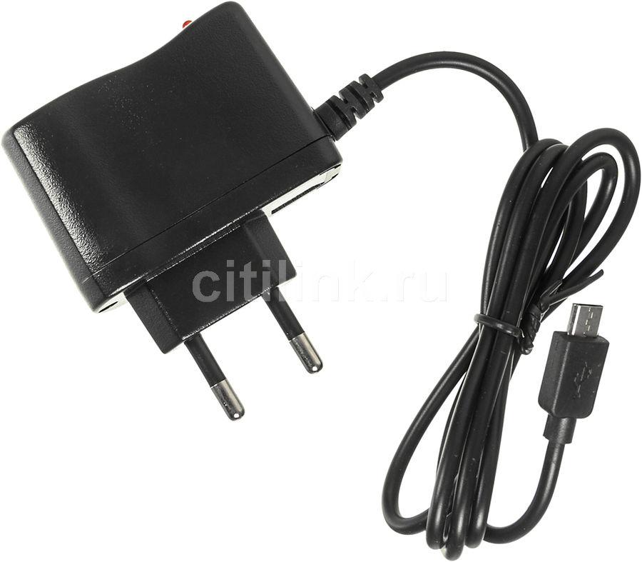 Сетевое зарядное устройство BURO XCJ-021-EM-1A,  microUSB,  1A,  черный