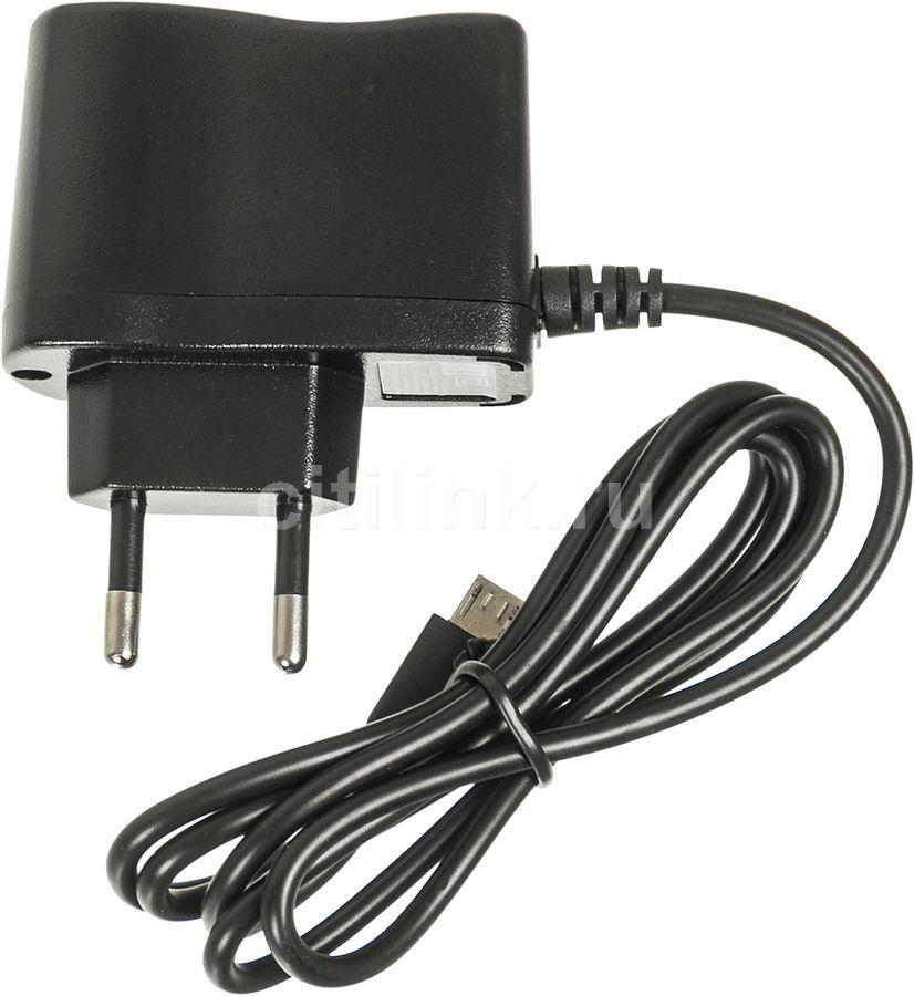 Сетевое зарядное устройство BURO XCJ-021-EM-2.1A,  microUSB,  2.1A,  черный