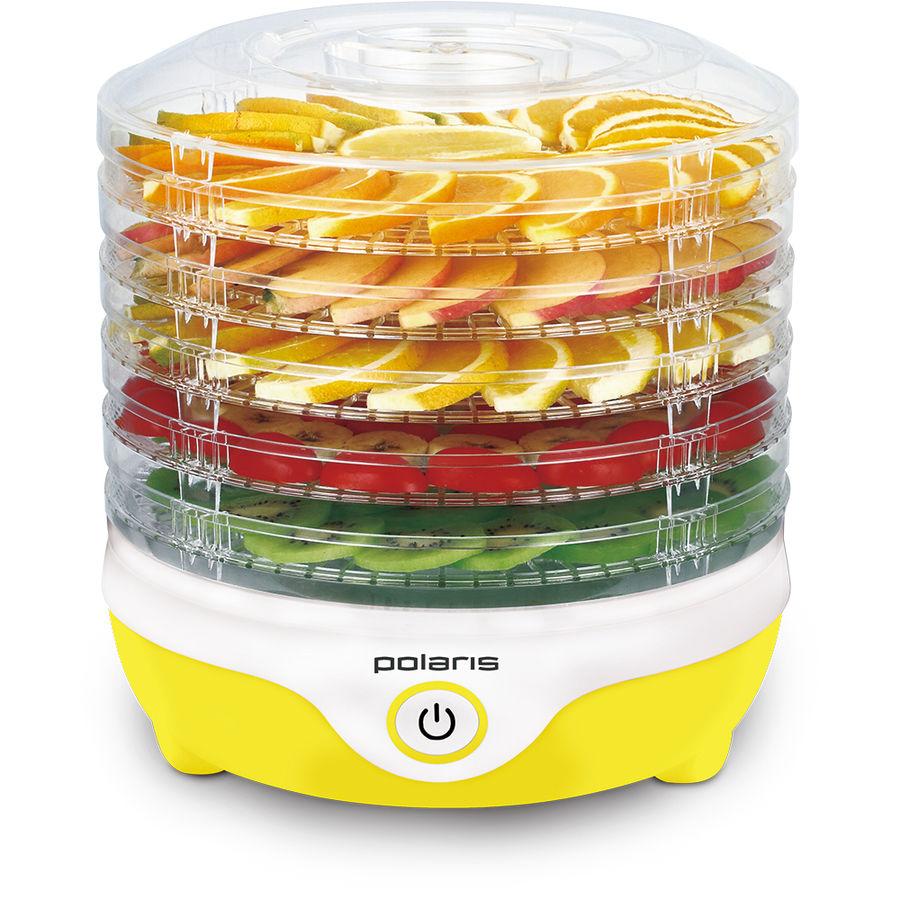 Сушилка для овощей и фруктов POLARIS PFD 2405D,  желтый,  5 поддонов