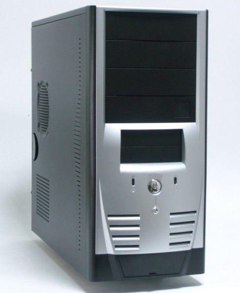 Корпус ATX FOXCONN TH-061, 400Вт,  черный и серебристый