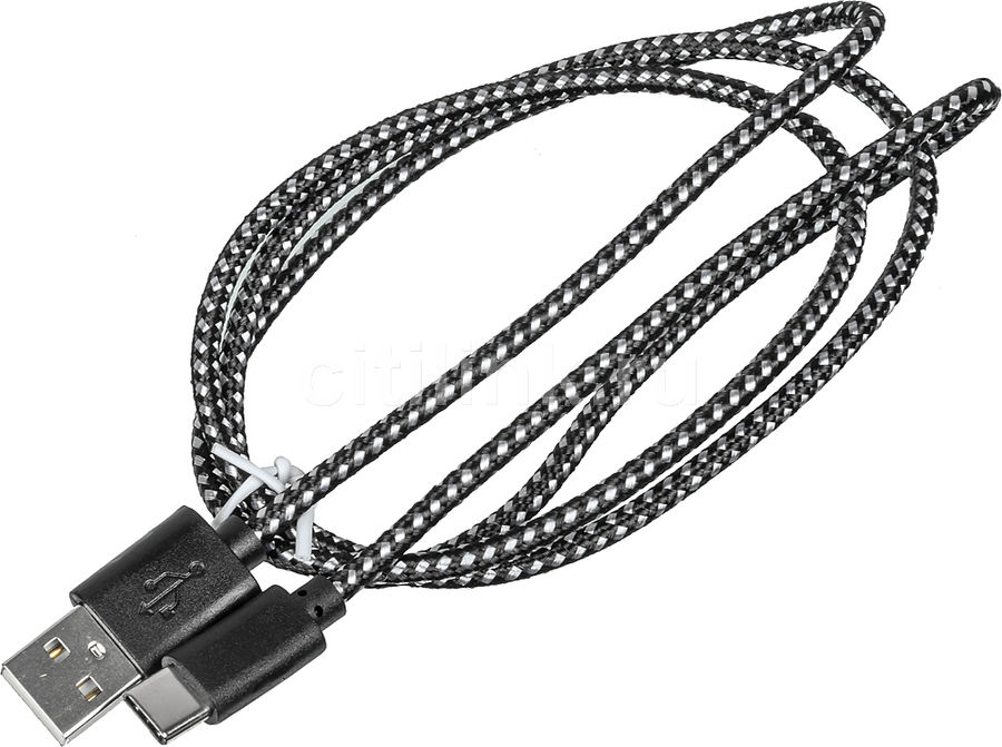 Кабель BURO Braided,  USB A(m),  USB Type-C (m),  1м [bhp ret typec1]