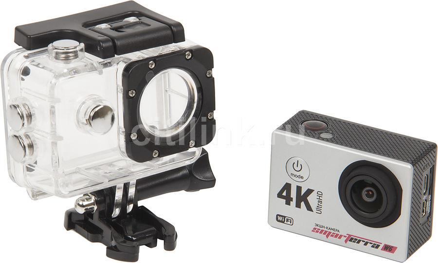 Экшн-камера Smarterra W6 1xCMOS 16Mpix серебристый (мех. повреждения)