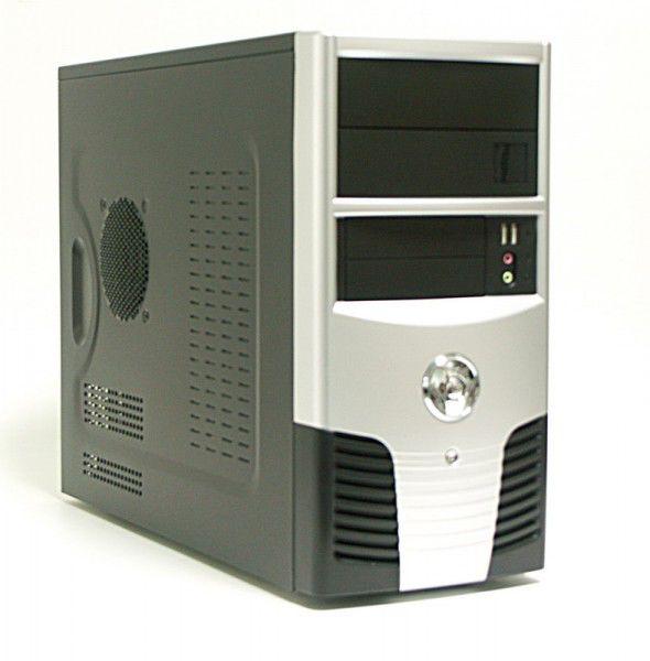 Корпус mATX FOXCONN TLM-624, 350Вт,  черный и серебристый