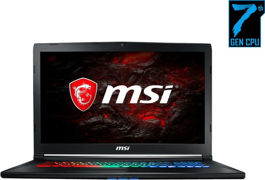Ноутбук MSI GP72M 7RDX(Leopard)-1025XRU, 17.3, Intel Core i7 7700HQ, 2.8ГГц, 16Гб, 1000Гб, 128Гб SSD, nVidia GeForce GTX 1050 - 4096 Мб, Free DOS, черный [9s7-1799d3-1025]Ноутбуки<br>экран: 17.3;  разрешение экрана: 1920х1080; процессор: Intel Core i7 7700HQ; частота: 2.8 ГГц (3.8 ГГц, в режиме Turbo); память: 16384 Мб, DDR4; HDD: 1000 Гб, 5400 об/мин; SSD: 128 Гб; nVidia GeForce GTX 1050 - 4096 Мб; WiFi;  Bluetooth; HDMI; WEB-камера; Free DOS<br>