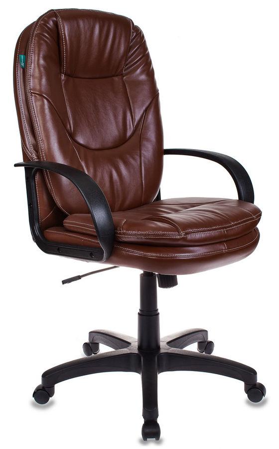 Кресло руководителя БЮРОКРАТ CH-1868, на колесиках, искусственная кожа, коричневый [ch-1868/nut]