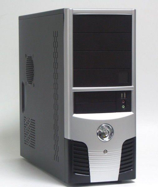 Корпус ATX FOXCONN TLA-624, 350Вт,  серебристый и черный