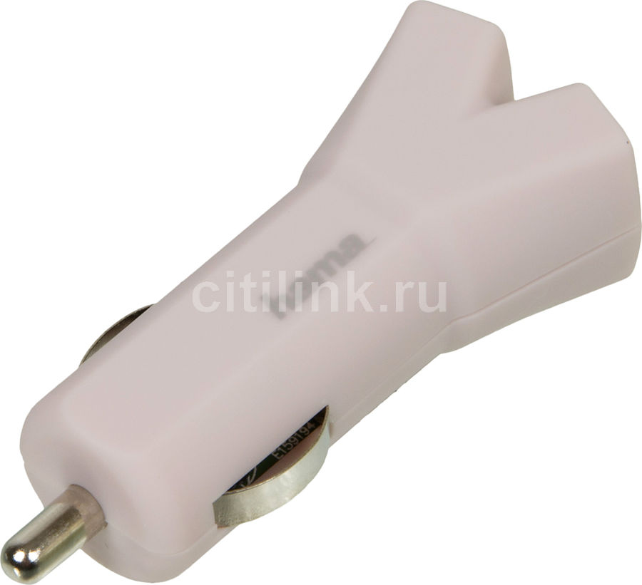 Автомобильное зарядное устройство HAMA Design Line,  USB,  3.4A,  розовый
