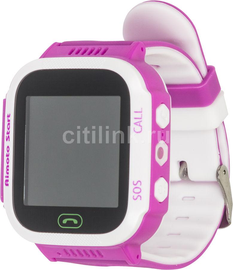 """Смарт-часы КНОПКА ЖИЗНИ Aimoto Start,  1.44"""",  розовый / розовый [9900101]"""
