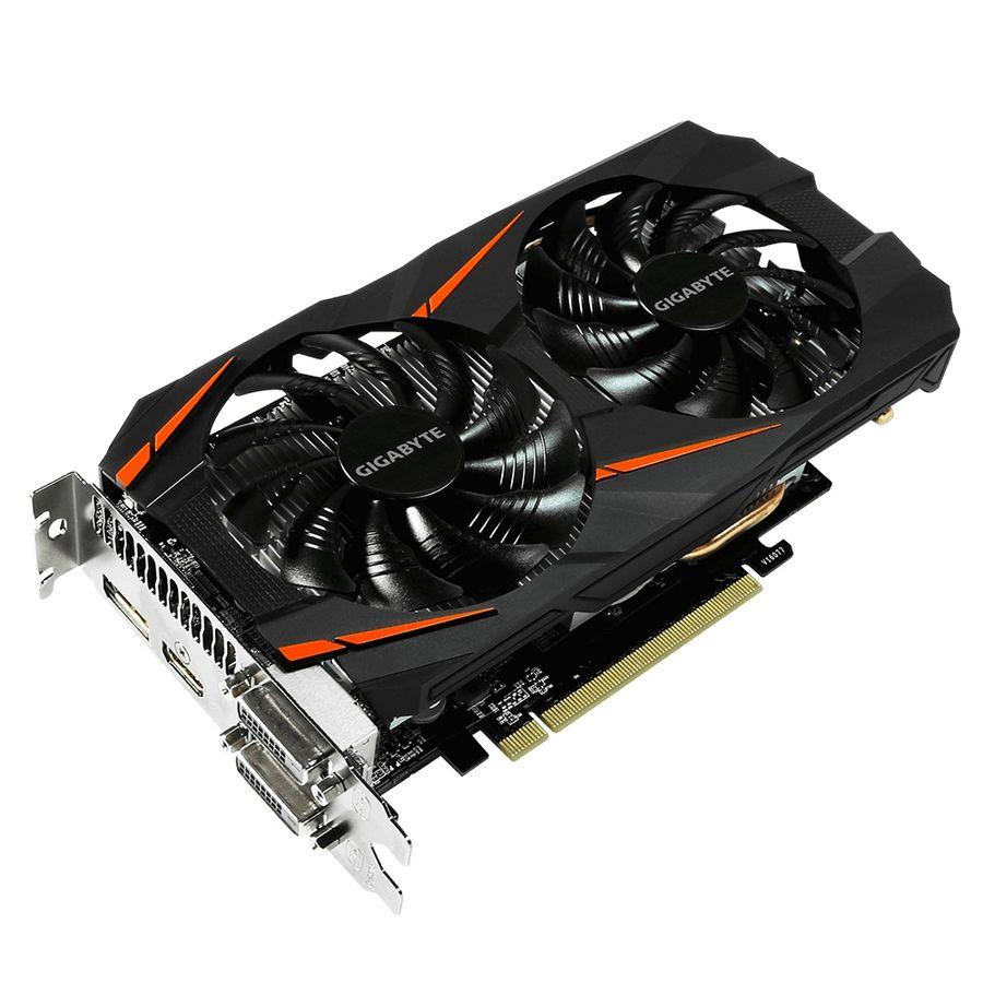 Видеокарта GIGABYTE nVidia  GeForce GTX 1060 ,  GV-N1060WF2OC-6GD-MI,  6Гб, GDDR5, OC,  Bulk
