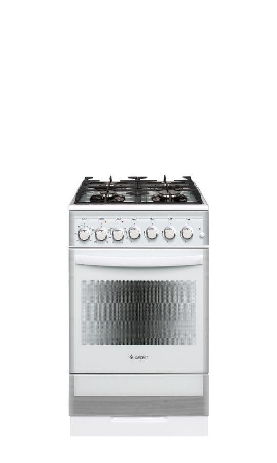 Газовая плита GEFEST ПГЭ 5502-02 0042,  электрическая духовка,  белый