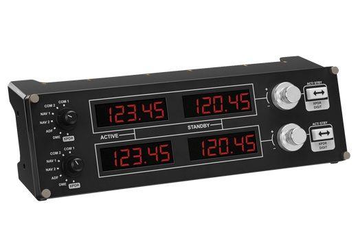 Геймпад проводной LOGITECH G Saitek Pro Flight Radio Panel черный [945-000011]