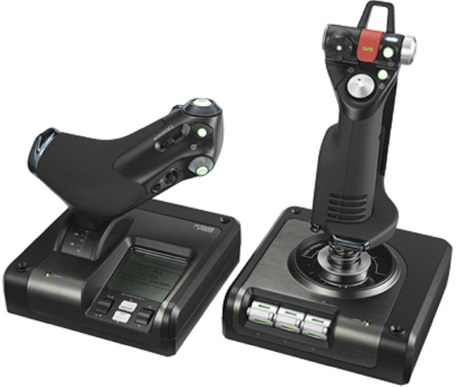 Геймпад проводной LOGITECH G Saitek X52 Pro Flight Control System черный [945-000003]