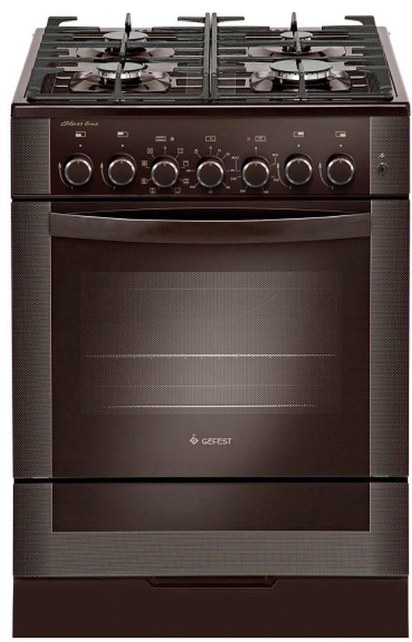 Газовая плита GEFEST ПГЭ 6502-03 0030,  электрическая духовка,  коричневый