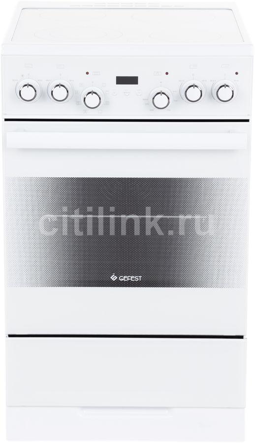 Электрическая плита GEFEST ЭП Н Д 5560-03 0039,  стеклокерамика,  белый