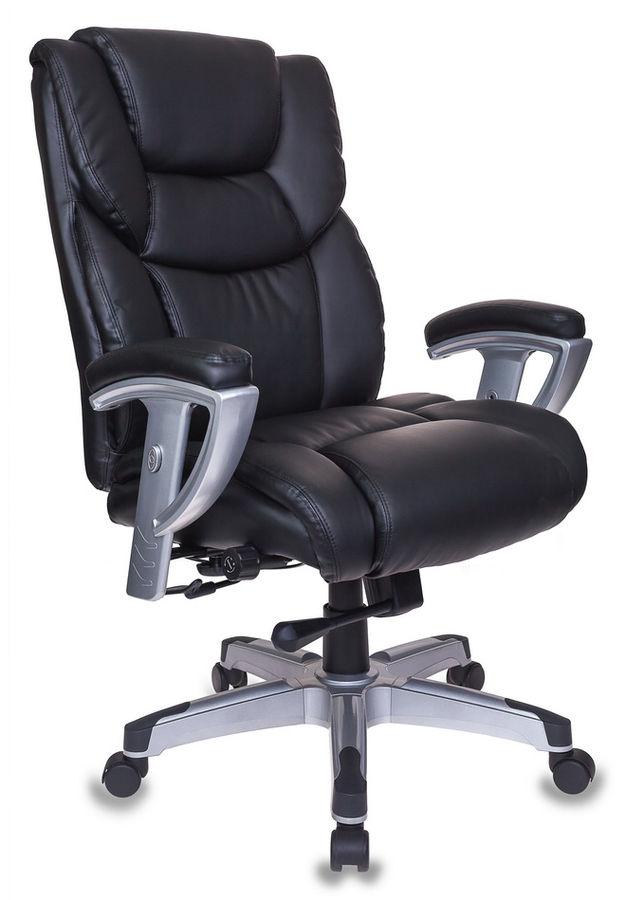Кресло руководителя БЮРОКРАТ T-9999, на колесиках, рециклированная кожа/кожзам [t-9999/black]