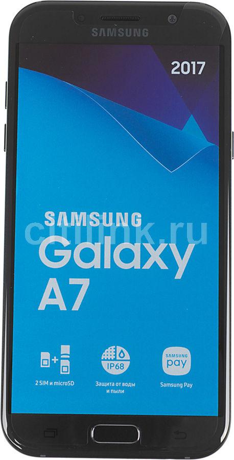 Смартфон SAMSUNG Galaxy A7 (2017) WarGaming Preinstall,  SM-A720F,  черный