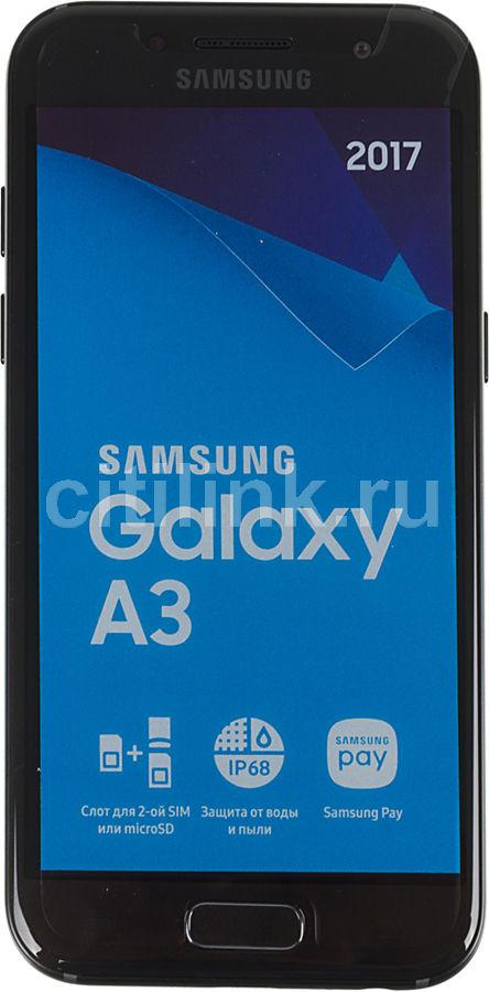 Смартфон SAMSUNG Galaxy A3 (2017) WarGaming Preinstall,  SM-A320F,  черный