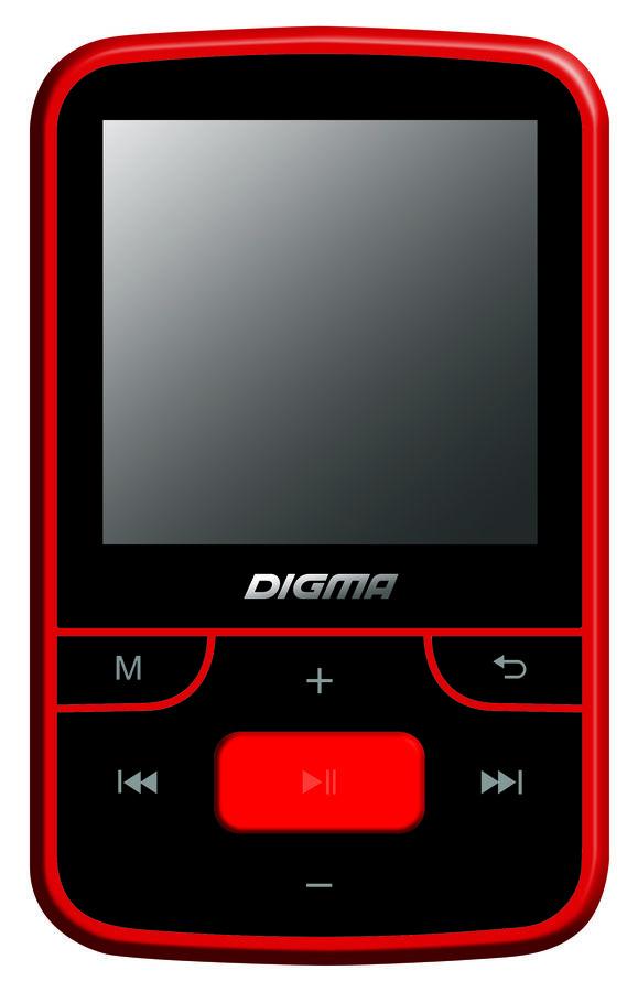 MP3 плеер DIGMA T3 flash 8Гб черный/красный