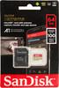 Карта памяти microSDXC UHS-I U3 SANDISK Extreme 64 ГБ, 100 МБ/с, 667X, Class 10, SDSQXAF-064G-GN6MA,  1 шт., переходник SD вид 1