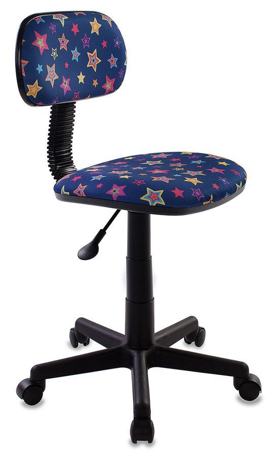Кресло детское БЮРОКРАТ CH-201NX, на колесиках, ткань, синий [ch-201nx/star-bl]