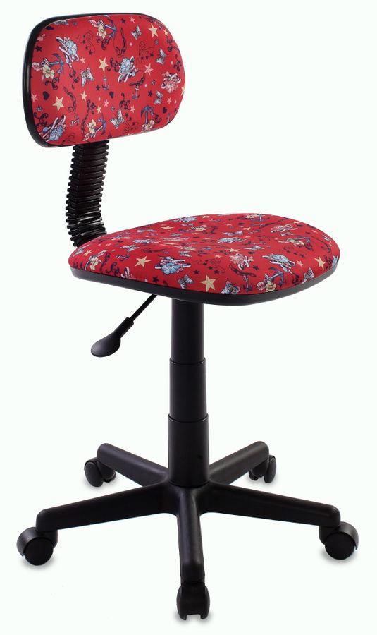 Кресло детское БЮРОКРАТ CH-201NX, на колесиках, ткань, красный [ch-201nx/anchor-rd]