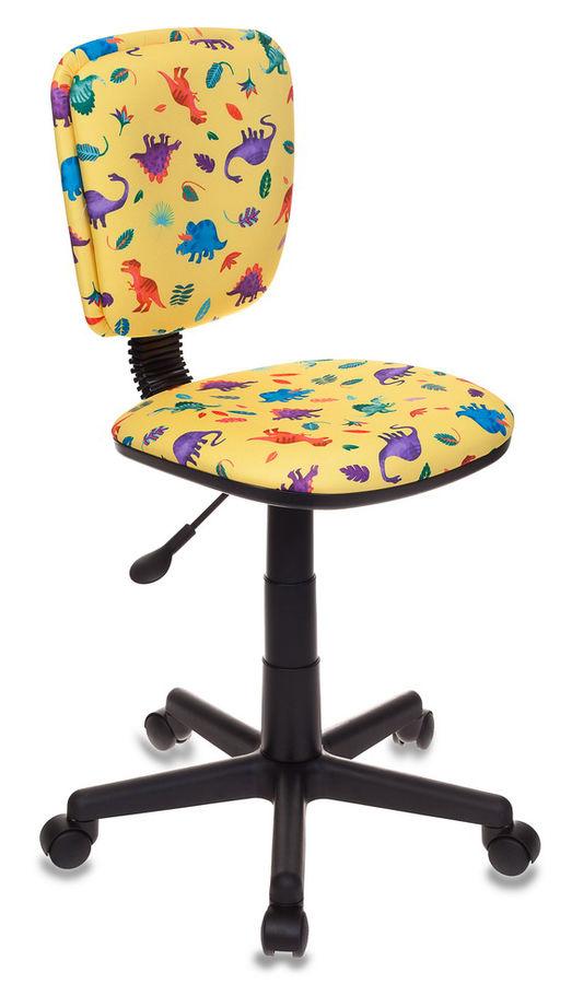 Кресло детское БЮРОКРАТ CH-204NX, на колесиках, ткань, желтый [ch-204nx/dino-y]