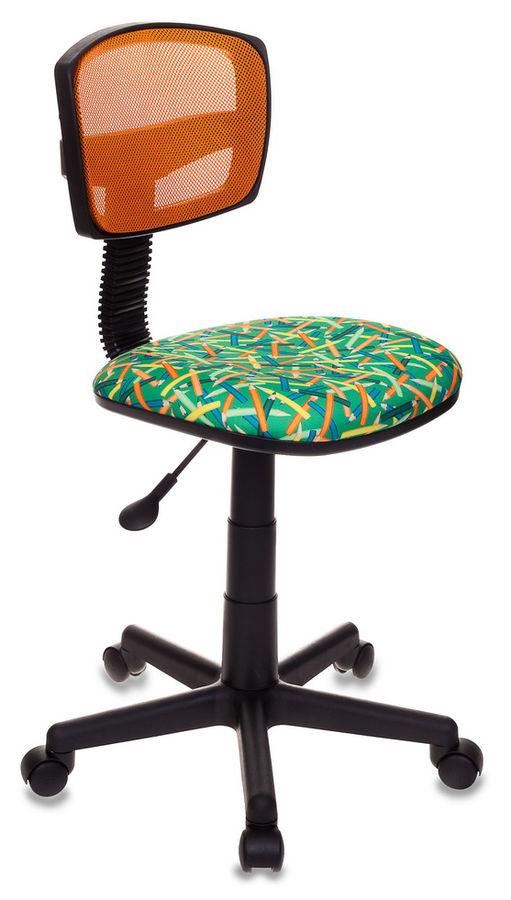 Кресло детское БЮРОКРАТ CH-299, на колесиках, ткань, зеленый [ch-299/or/pencil-gn]