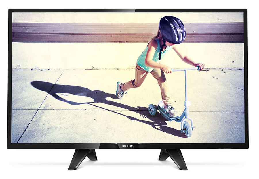 LED телевизор PHILIPS 32PHT4132/60 R, 32, HD READY (720p), черный телевизор philips 32pht4100 60 hd pmr 100 черный