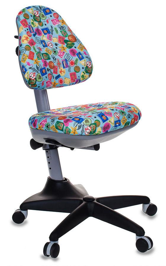 Кресло детское БЮРОКРАТ KD-2, на колесиках, ткань, голубой [kd-2/g/mark-lb]