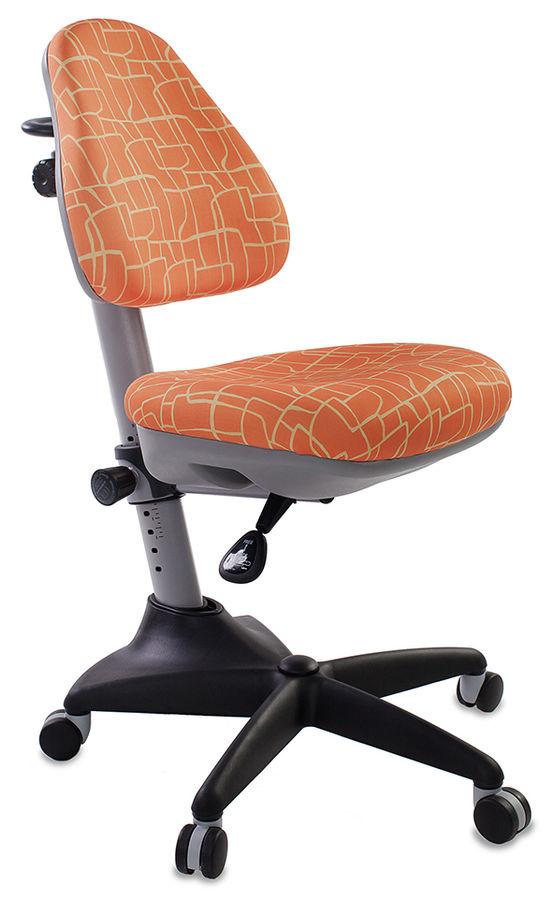 Кресло детское БЮРОКРАТ KD-2, на колесиках, ткань, оранжевый [kd-2/g/giraffe]
