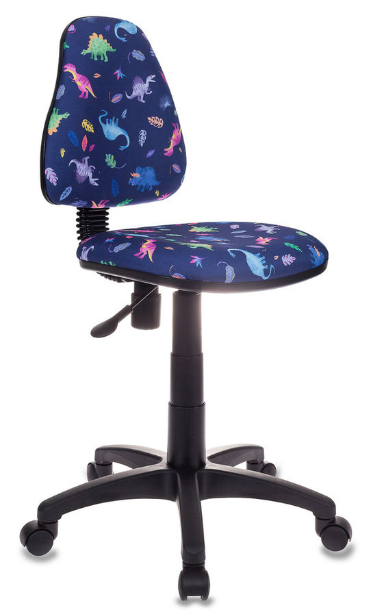Кресло детское БЮРОКРАТ KD-4, на колесиках, ткань, синий [kd-4/dino-bl]