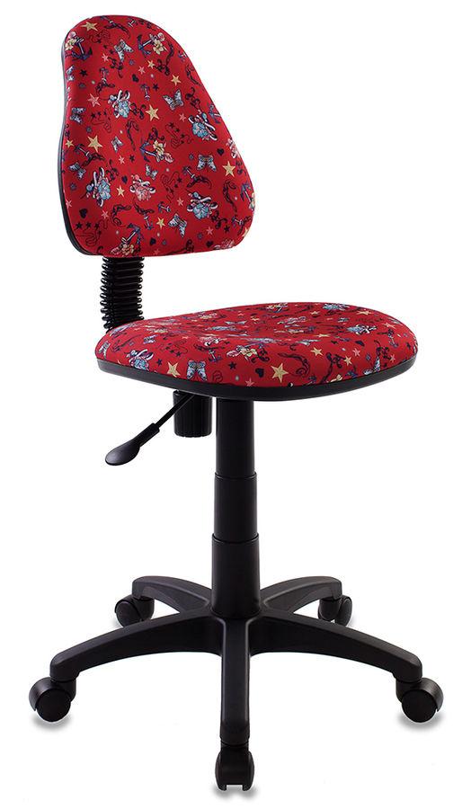 Кресло детское БЮРОКРАТ KD-4, на колесиках, ткань, красный [kd-4/anchor-rd]
