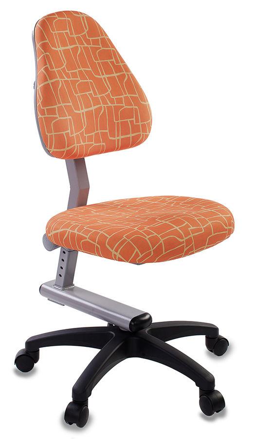 Кресло детское БЮРОКРАТ KD-8, на колесиках, ткань, оранжевый [kd-8/giraffe]