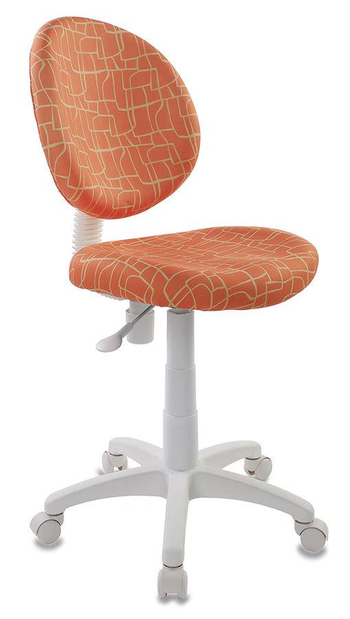 Кресло детское БЮРОКРАТ KD-W6, на колесиках, ткань, оранжевый [kd-w6/giraffe]