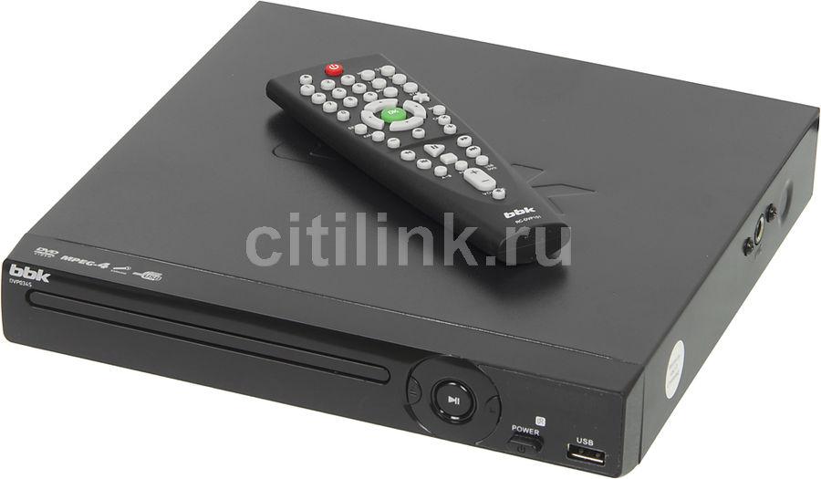 DVD-плеер BBK DVP034S,  черный [(dvd) player dvp034s б/д чер c]