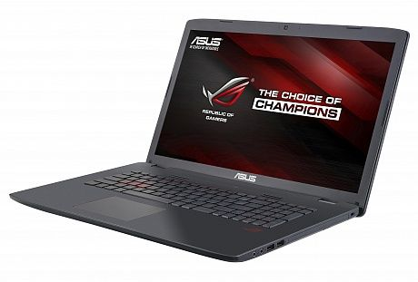 Ноутбук ASUS ROG GL752VW-T4504T, 17.3, Intel Core i7 6700HQ, 2.6ГГц, 16Гб, 1000Гб, 512Гб SSD, nVidia GeForce GTX 960M - 4096 Мб, DVD-RW, Windows 10, серый [90nb0a42-m07040]Ноутбуки<br>экран: 17.3;  разрешение экрана: 1920х1080; процессор: Intel Core i7 6700HQ; частота: 2.6 ГГц (3.5 ГГц, в режиме Turbo); память: 16384 Мб, DDR4; HDD: 1000 Гб, 5400 об/мин; SSD: 512 Гб; nVidia GeForce GTX 960M - 4096 Мб; DVD-RW; WiFi;  Bluetooth; HDMI; WEB-камера; Windows 10<br><br>Линейка: ROG