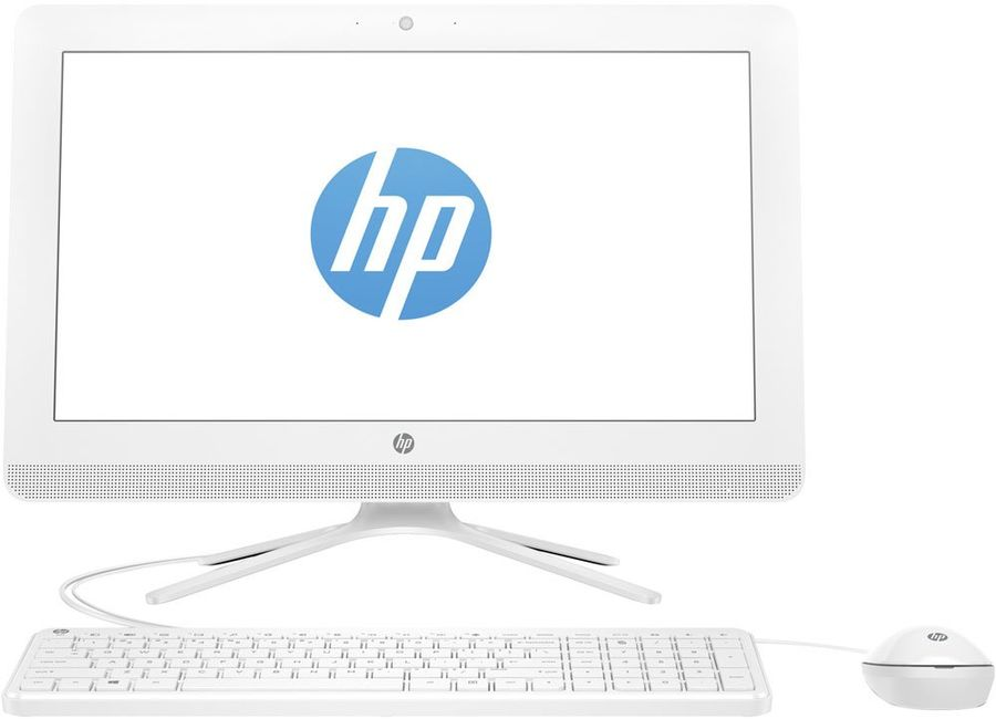 Моноблок HP 20-c029ur, Intel Celeron J3060, 4Гб, 500Гб, Intel HD Graphics 400, DVD-RW, Free DOS 2.0, белый [1ee18ea] ноутбук acer aspire a315 31 c3cw 15 6 intel celeron n3350 1 1ггц 4гб 500гб intel hd graphics 500 windows 10 черный [nx gnter 005]