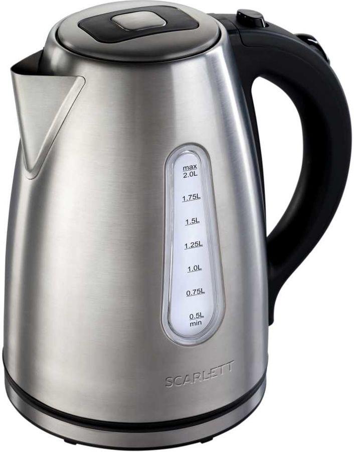 Чайник электрический SCARLETT SC-EK21S43, 2200Вт, серебристый