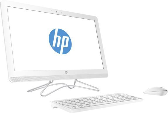 Моноблок HP 24-e044ur, Intel Core i3 7100U, 4Гб, 1000Гб, NVIDIA GeForce 920MX - 2048 Мб, DVD-RW, Windows 10, белый [2bw38ea] ноутбук hasee 14 intel i3 3110m dvd rw nvidia geforce gt 635m intel gma hd 4000 2 g k460n