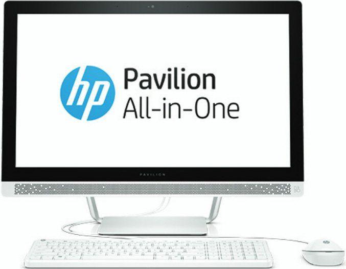 "Моноблок HP 24-b221ur, 23.8"", AMD A12 9730P, 12Гб, 2Тб, AMD Radeon R7, DVD-RW, Windows 10, белый [1aw91ea]"