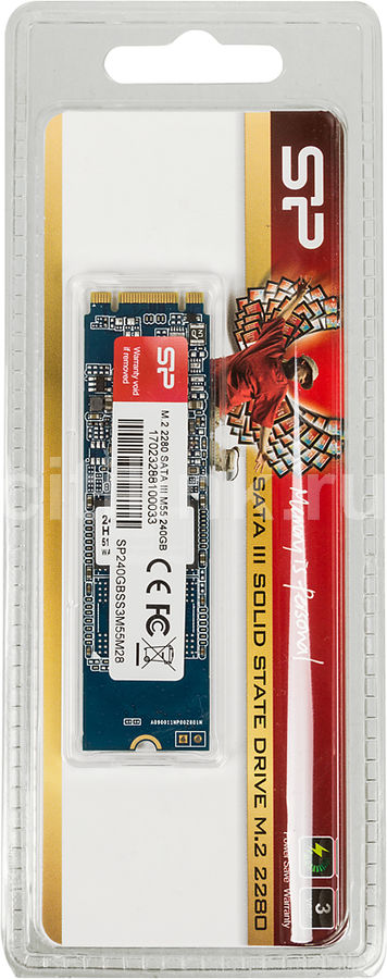 SSD накопитель SILICON POWER M-Series SP240GBSS3M55M28 240Гб, M.2 2280, SATA III ssd накопитель intel 540s series ssdsckkw240h6x1 240гб m 2 2280 sata iii