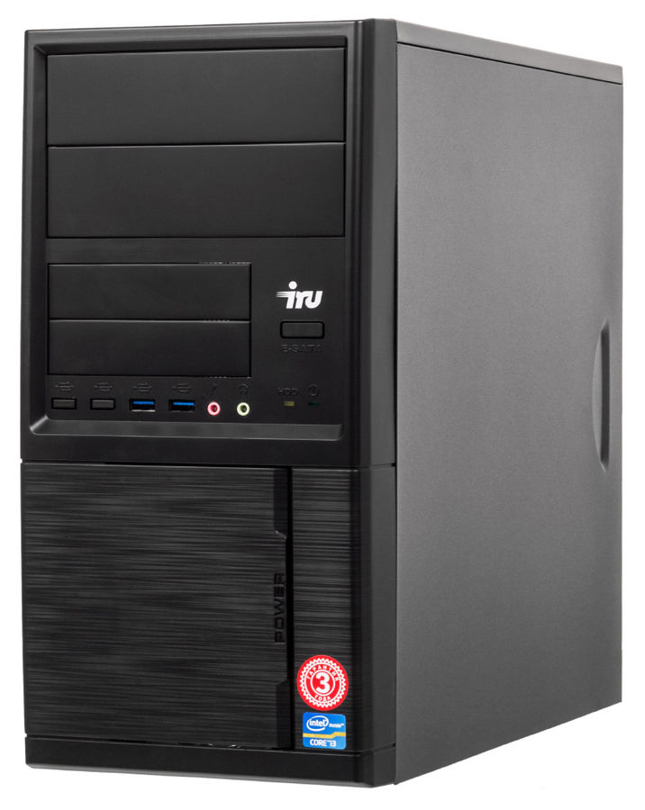 все цены на Компьютер IRU Corp 319, Intel Core i3 4170, DDR3 8Гб, 120Гб(SSD), Intel HD Graphics 4400, Windows 10 Professional, черный [491764] онлайн