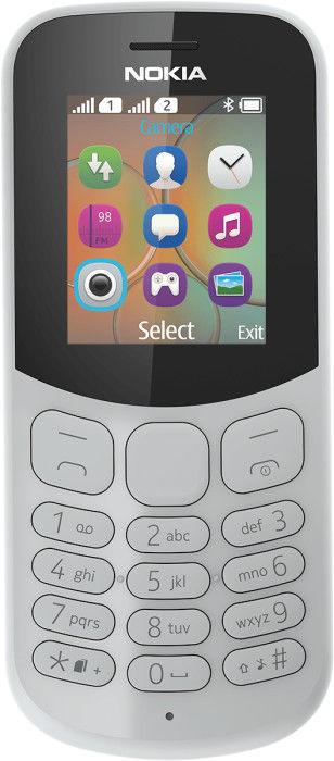 Мобильный телефон NOKIA 130 2017 Dual sim,  серый