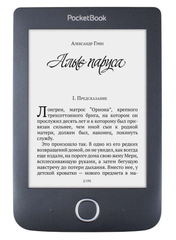 Электронная книга POCKETBOOK 614 Plus, 6, черный