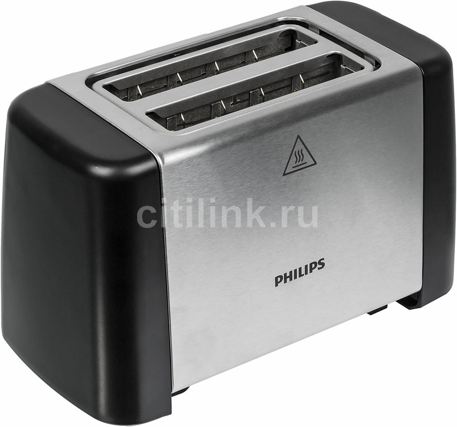 Тостер PHILIPS HD4825/90,  черный/серебристый